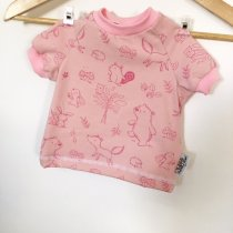 T-Shirt Waldtiere rosa
