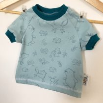 T-Shirt Waldtiere hellblau