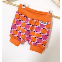 Kurze Hose mit Äpfeln rosa/orange