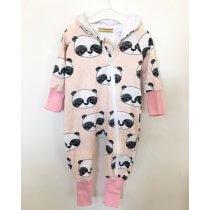 Sweatoverall Panda rosa