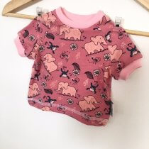 T-Shirt Elefanten altrosa 50/56