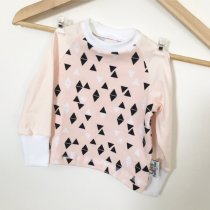 Langarmshirt Triangles rosa