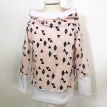 Hoodie Triangles rosa