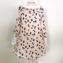Hoodiekleid Triangles rosa