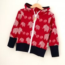 Sweatjacke für Mama Elefanten rot
