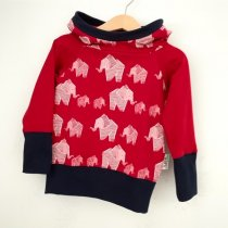 Hoodie für Mama Elefanten rot