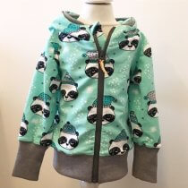 Sweatjacke Winterpanda mint