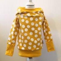 Hoodie mit Punkten gelb