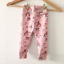 Leggings mit Winterrehen rosa