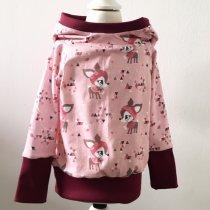 Hoodie mit Winterrehen rosa