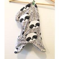 Schlupfmütze mit Panda grau