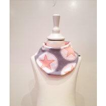 Halstuch mit Sternen rosa/grau