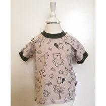 T-Shirt mit Waldtieren beige