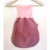 Pucksack mit Herzen rosa