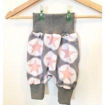 Pumphose mit Sternen rosa/grau