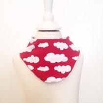 Halstuch mit Wolken rot