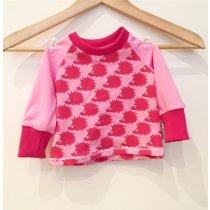 Langarmshirt mit Igel pink