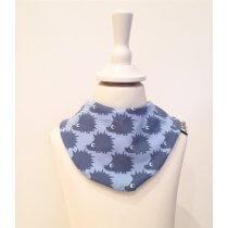 Halstuch mit Igel blau