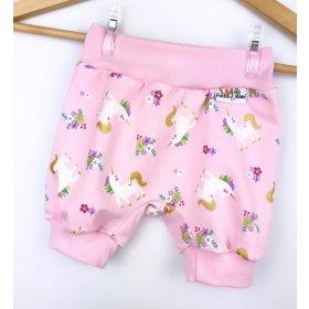 Kurze Hose Einhörner rosa