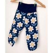 Softshellhose Blumen dunkelblau
