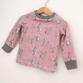 Langarmshirt Hasi rosa