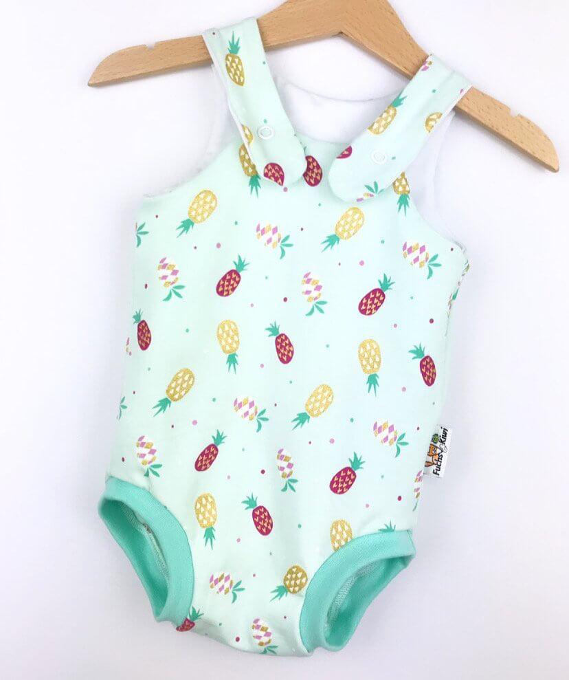 Sommerstrampler Ananas mint