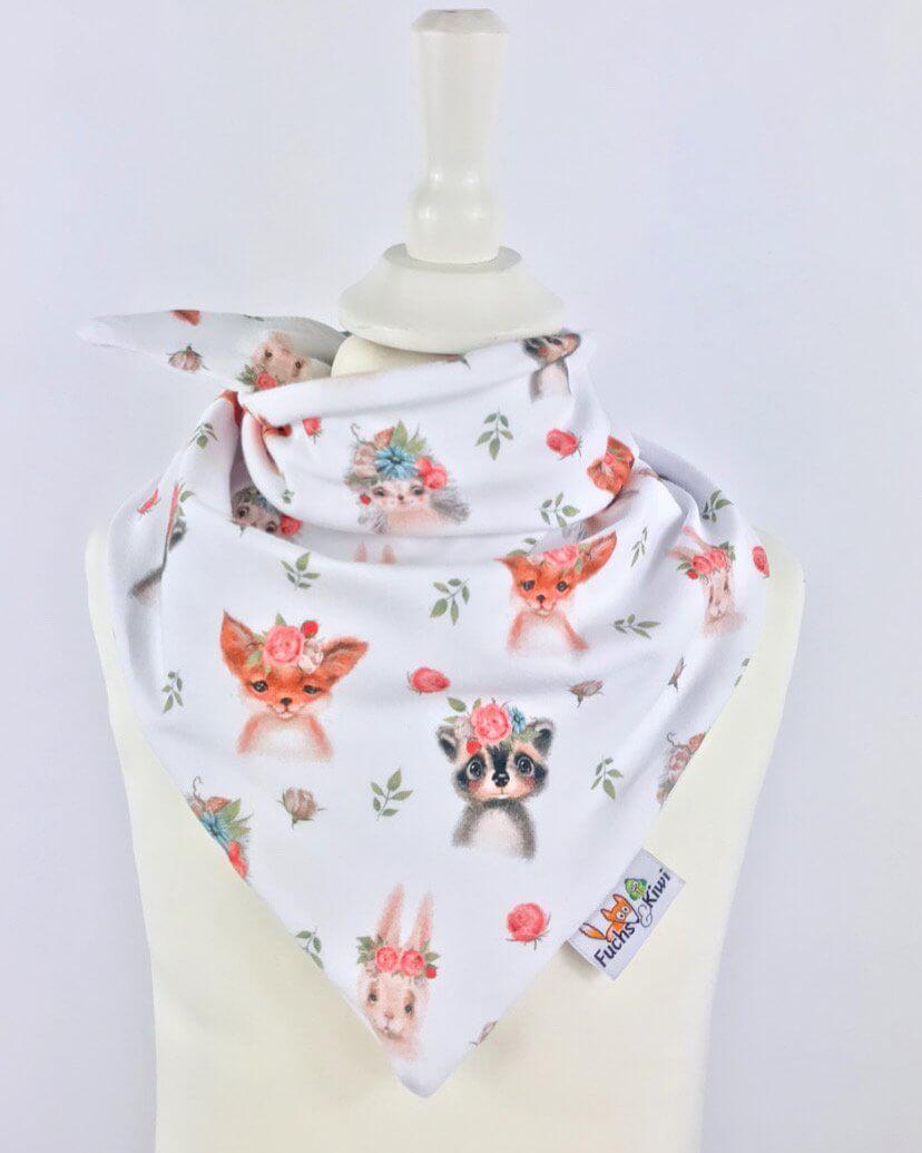 Halstuch zum Binden Blumentiere