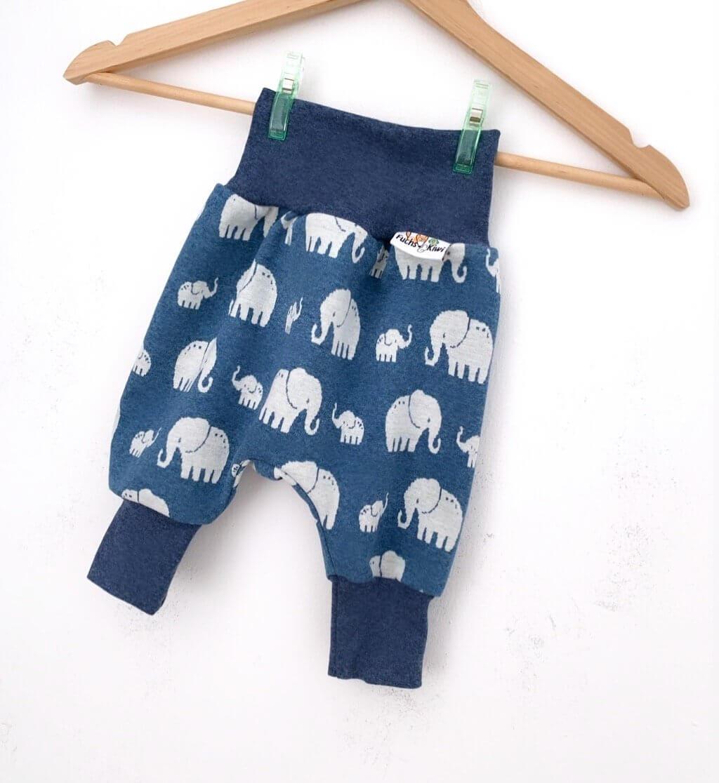 Pumphose Strick Elefanten rauchblau