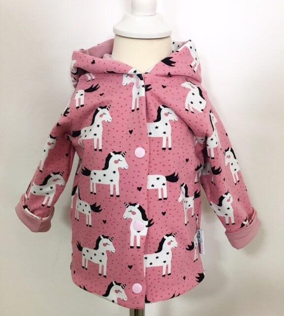 Wendejacke Einhörner rosa