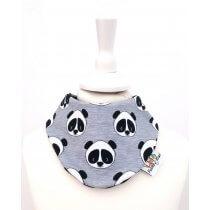 Halstuch Panda grau meliert