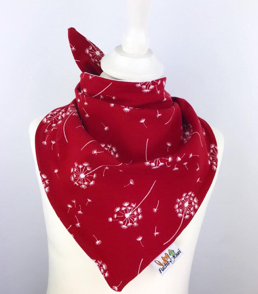 Halstuch zum Binden Pusteblume rot
