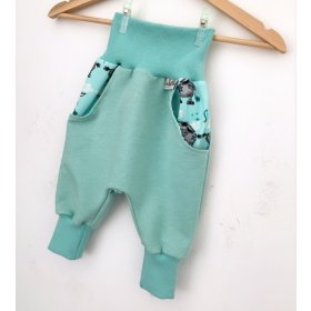 Individuell Sweat Pumphose mint meliert
