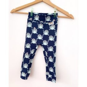 Leggings Robben blau