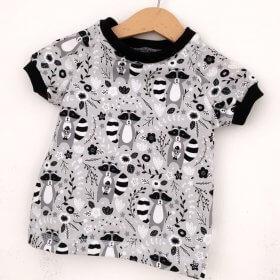 T-Shirt Waschbär grau