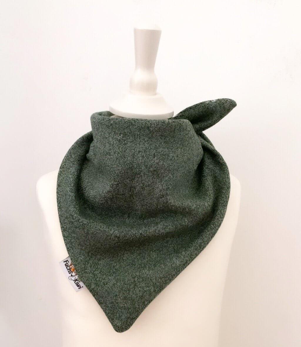 Halstuch zum Binden Strick tannengrün