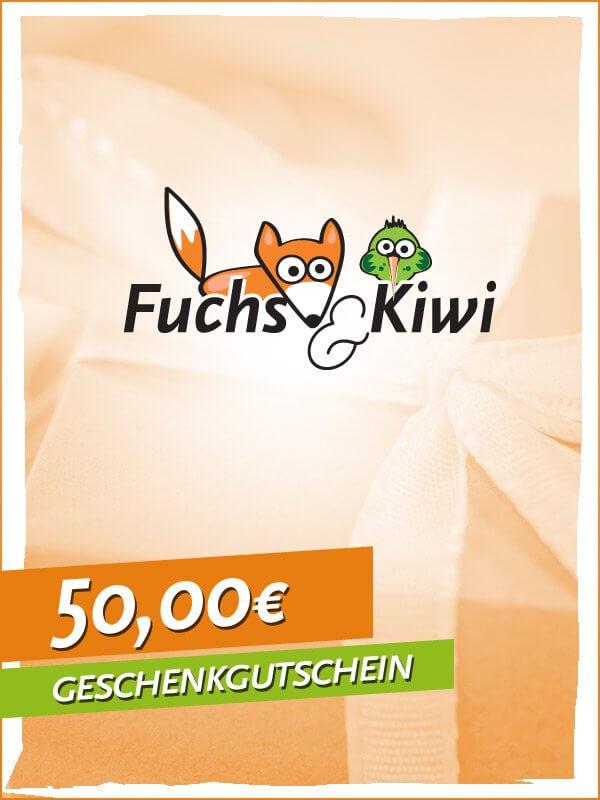 Gutschein 50 € - Fuchs & Kiwi