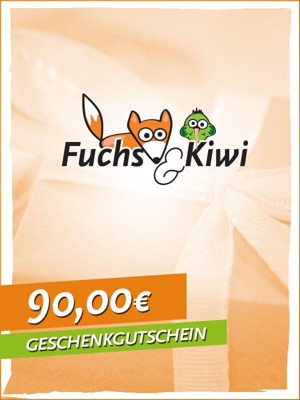 Gutschein 90 € - Fuchs & Kiwi