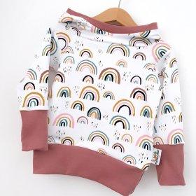 Hoodie für Mama Regenbogen rosa