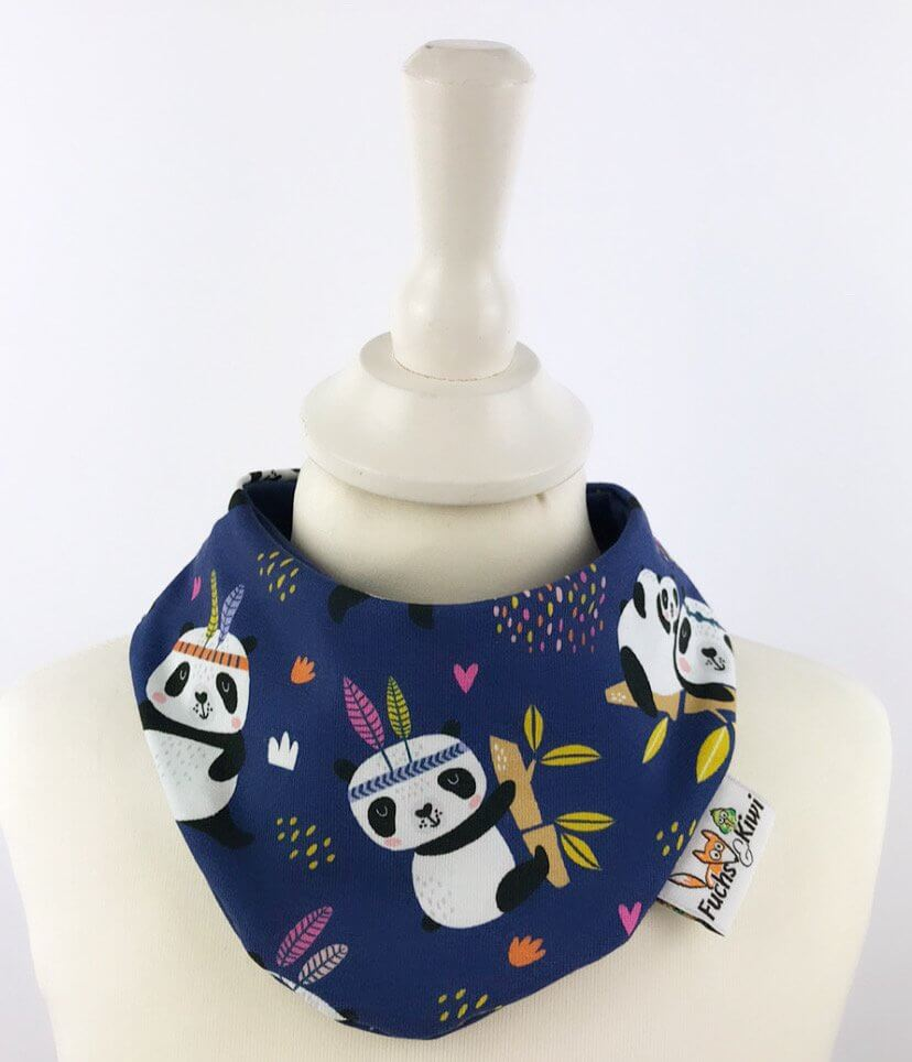 Halstuch Panda dunkelblau