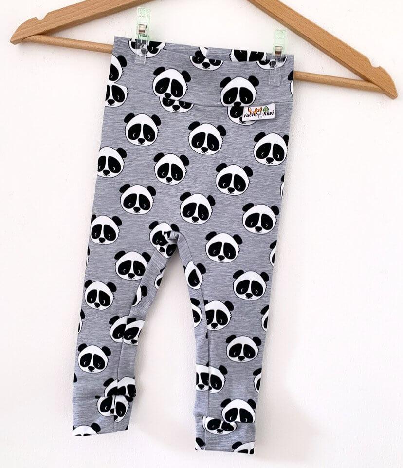 Leggings Panda grau meliert