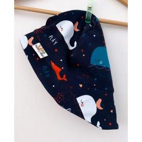 Sommermütze Wale bunt