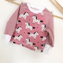Langarmshirt Einhörner rosa