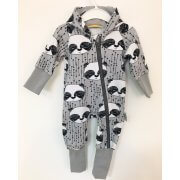 Sweatoverall Panda grau