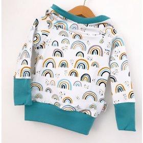 Hoodie für Mama Regenbogen mint