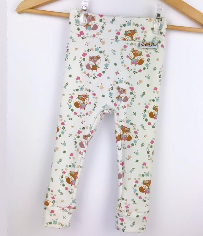 Leggings Füchse & Blumen creme