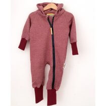 Sweatoverall Strick weinrot