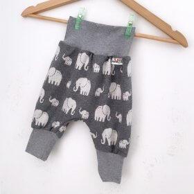 Pumphose Strick Elefanten grau