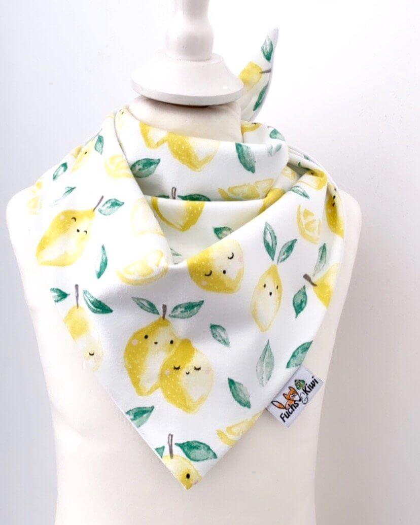 Halstuch zum Binden Zitronen