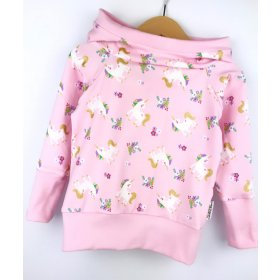 Hoodie Einhörner rosa
