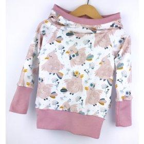 Hoodie für Mama Täubchen rosa